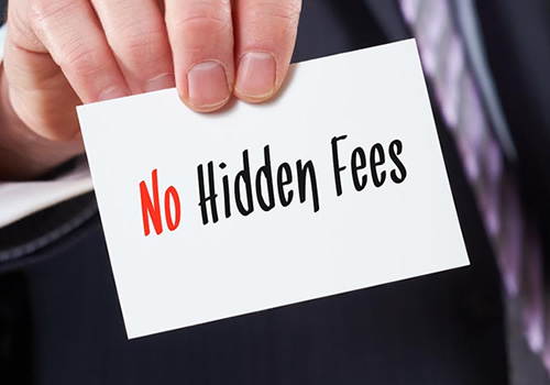 Fees, costs, prices, affordable advice, no hidden fees