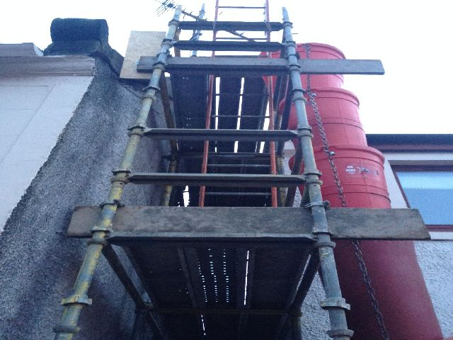 Fine, scaffold, work at height
